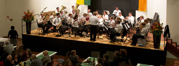 Musikverein Au auf der Bühne