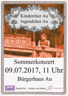 Kinderchor Au Sommerkonzert