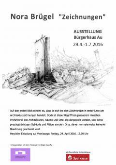 Nora Brügel Ausstellung Bürgerhaus Au